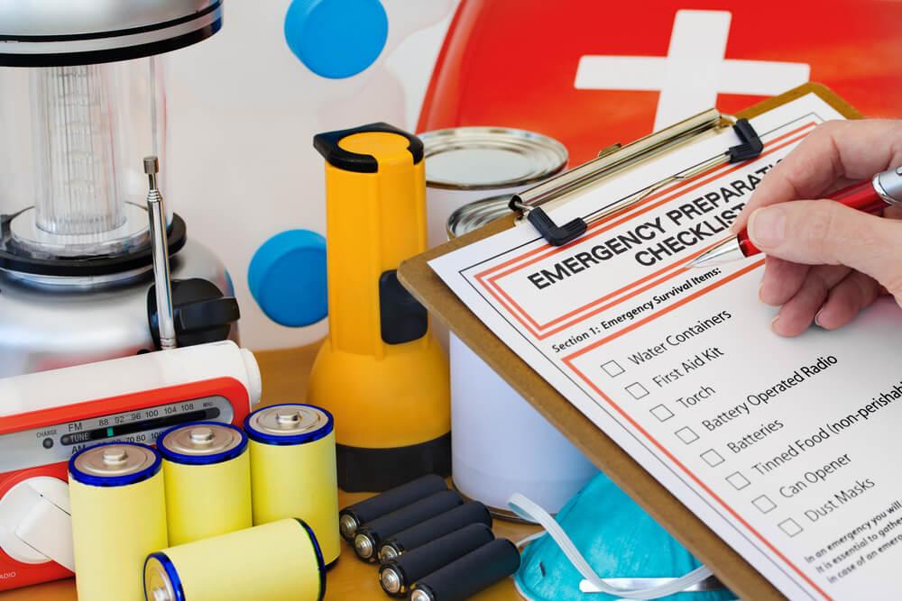 tornado preparedness kit with emergency supplies
