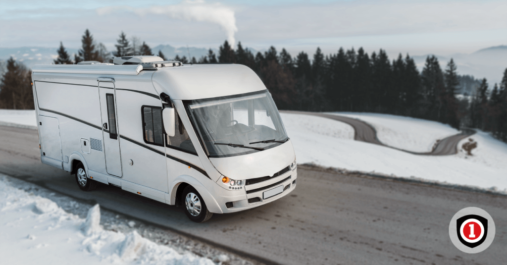 RV in the snow
